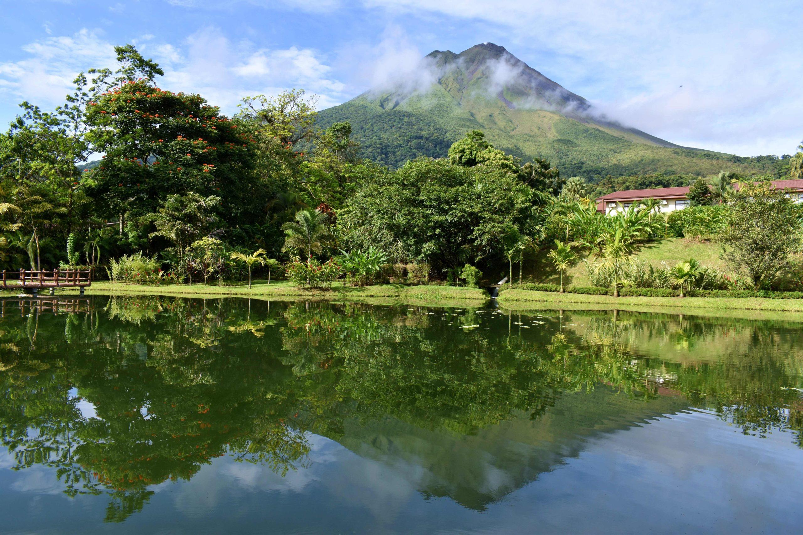 Volcan Arenal depuis l'hôtel Los Lagos