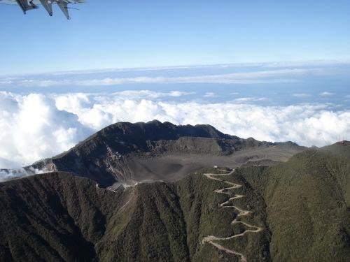 Cratère volcan Turrilba